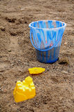 Beach Toys. Children's toys on the beach Royalty Free Stock Images