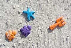 Beach toys. Colorful sand/beach toys for kids Stock Photos