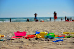 Vacation at the seaside: Black Sea Beach Toys Royalty Free Stock Photo