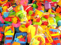 Beach toys for sale in Romania. Summer toys for sale in a store near the seaside in Romania Royalty Free Stock Photos