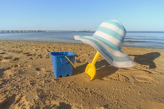 Beach toys in the sand Stock Image
