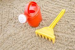Beach toys on sand Royalty Free Stock Photos