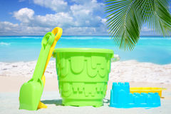 Beach toys on sunny beach Stock Photography