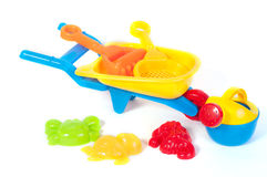 Beach toys  on white background Royalty Free Stock Image