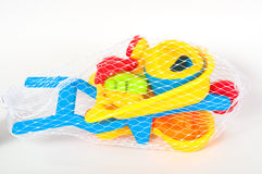 Beach toys  on white background Stock Images