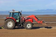 Beach Tractor Stock Photo