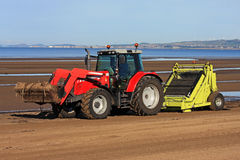 Beach Tractor Royalty Free Stock Photography
