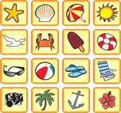 Beach & Travel. Icons set Royalty Free Stock Images
