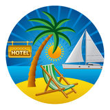 Beach travel concept Royalty Free Stock Images