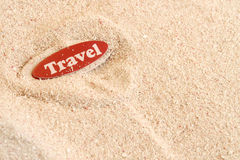 Beach travel on sand Royalty Free Stock Photography