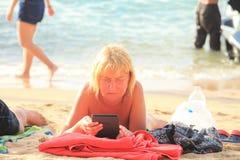 Beach. Traveler relax along the beach Stock Photo