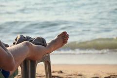 Beach. Traveler relax along the beach Stock Image