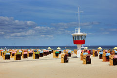 Beach in Travemunde, Germany Stock Image