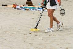 Beach Treasure Hunter Royalty Free Stock Photography