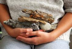 Beach treasures Stock Photo