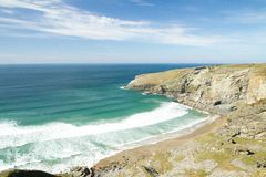 Beach at Treknow near Tintagel in Cornwall Stock Photos