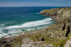 The beach at Treknow near Tintagel in Cornwall Royalty Free Stock Photography