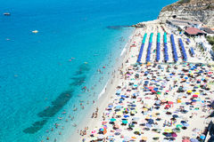 Tropea beach Calabria Stock Images