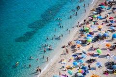 Beach from Tropea, Italy Stock Image