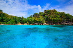 Beach of tropical crystal clear sea, Similan islands, Andaman Stock Photography