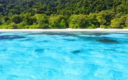 Beach of tropical crystal clear sea, Ta Chai island Royalty Free Stock Image