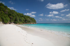 Beach of tropical crystal clear sea, Tachai island, Andaman, Tha - Stock Image Royalty Free Stock Photo