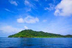 Beach of tropical crystal clear sea, Tachai island, Andaman Stock Image