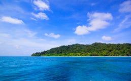Beach of tropical crystal clear sea, Tachai island, Andaman Stock Photo