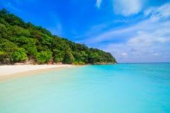 Beach of tropical crystal clear sea, Tachai island, Andaman Stock Photos