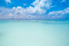 Beach of tropical crystal clear sea, Tachai island, Andaman Stock Photography