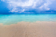 Beach of tropical crystal clear sea, Tachai island, Andaman Stock Images