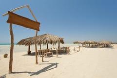 Beach on tropical desert island Stock Photos