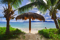 Beach at tropical island Stock Image