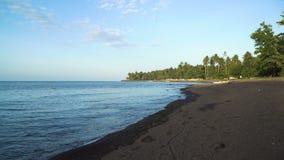 Beach on tropical island. stock video footage