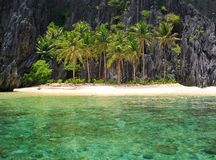 The beach on a tropical island. Stock Images
