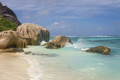 Beach of tropical island Stock Images