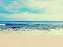 Beach on a tropical island. retro vintage Stock Photo