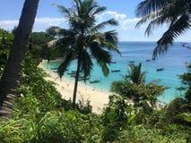 Beach on a tropical island. Royalty Free Stock Photo