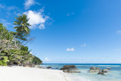Beach of tropical island Stock Photography
