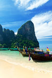 Tropical landscape. Railay Beach. Thailand Royalty Free Stock Photos