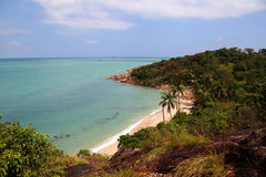 Beach tropical. Tropical landscape, view of the beach from above Royalty Free Stock Photo