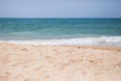 Beach and tropical ocean beach. Beach and tropical sea. Summer vocation concept Stock Photography