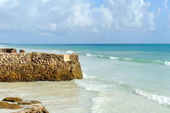 Beach and tropical ocean. Sky and ocean Royalty Free Stock Photography