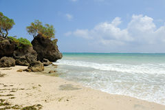 Beach and tropical ocean Royalty Free Stock Photography