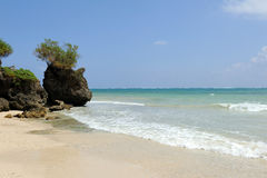Beach and tropical ocean Stock Photo