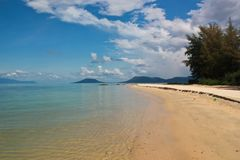 Beach on tropical Phu Quoc island. Clear water on a beach of the tropical island of Phu Quoc in Vietnam Stock Photography
