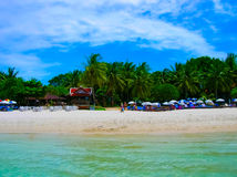 The beach at tropical Resort Royalty Free Stock Images