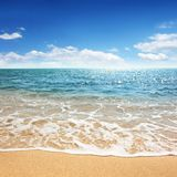 Beach and tropical sea. For use as background Royalty Free Stock Image