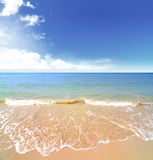 Beach and tropical sea. For use as background Stock Photo