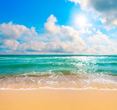 Beach and tropical sea. This is beach and tropical sea Stock Image